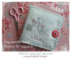 TUTORIAL - the simplest needle-book....