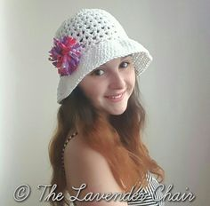 Valerie's Summer Sun Hat is the first of many to come in The Valerie Collection! It's the perfect hat for a bright summer day!