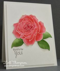 Fifth Avenue Floral (SU!), CS:  White (Neenah); watercolor, Ink:  Pretty in Pink, Regal Rose, Rose Red, Smoky Slate, Garden Green (SU!) - Stamping with Loll