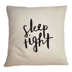 Sleep Tight Cushion Cover - Illustrated Cotton Cushion Cover - Home Decor - 45cm x 45xcm