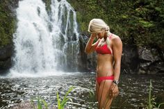 Gillian Gibree wearing the Ace Bikini #ROXYOutdoorFitness