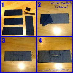 wrist wallet tutorial - so easy