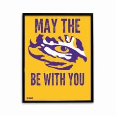 This #LSU poster is the perfect gift for any #LSU fan. #sports #football #present