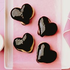 Chocolate Eclair Hearts for Valentines Day