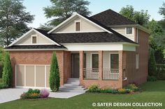 This traditional design floor plan is 2072 sq ft and has 4 bedrooms and has 3 bathrooms. Craftsman Style Homes, Craftsman House Plans, Country House Plans, Traditional House Plans, Traditional Design, Roof Design, House Design, Ceiling Plan, Floor Plan Drawing