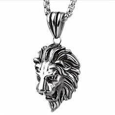 Loveshine Jewelry Punk Men's Stainless Steel Animal Lion Head Shape Pendant Necklace 24 inch Chain Shine Love http://www.amazon.com/dp/B01AUGSFTG/ref=cm_sw_r_pi_dp_Rzedxb1BJ5377