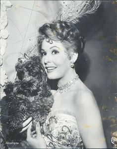 1954 Pretty Actress Arlene Dahl w Her Poodle in Here Comes The Girls