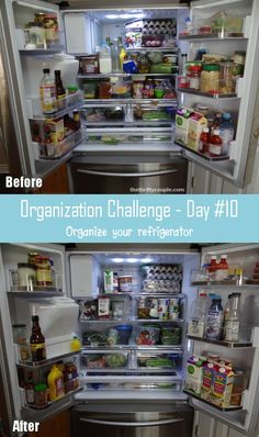 30-Day Organization Challenge Day #10 - Organize the Refrigerator