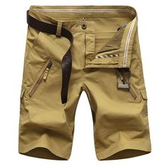 Plus Size 48 50 Men's Shorts 2016 Summer Leisure CARGO Shorts 4 Color Straight Loose Fashion Mans Short Trousers Bottoms