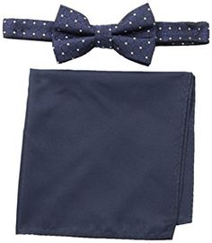 513d1becc504 Nick Graham Men's Dot Bow Tie with Pocket Square Review Bow Ties, Pocket  Square,