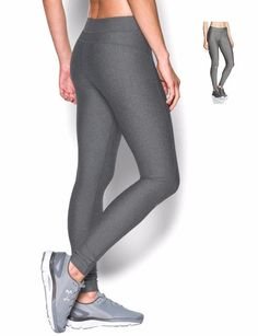3dccaab2b7 Under Armor Womens HeatGear Compression Pants Leggings Gray SX L XL 1297910  #Underarmour #PantsTightsLeggings