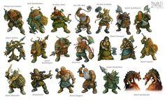 Lords of War - Dwarves by Steve Cox, via Behance