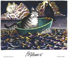 """The Owl and the Pussycat"" --Kliban's Cats on Gocomics.com"