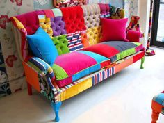 Sillon retapizado a todo color patch, unico!!