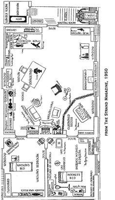 Sherlock Holmes Illustrated - The flat at 221 B Baker Street.