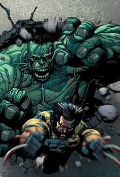 #Hulk #Fan #Art. (Hulk versus Wolverine 02) By: GiovaniKososki. ÅWESOMENESS!!!™ ÅÅÅ+ (NOW YOU KNOW THAT'S JUST GOING TO MAKE HIM MAD!!!)