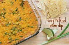 Easy Refried Bean Dip | High Heels and Grills. Easy. Delicious. Nuff said.
