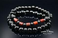 Red Jasper Bracelet Set Men's Beaded Bracelets Black Agate Bracelet Stretch Bracelet Gift for Men Onyx Bracelet Elastic Bracelet Set Gemstone Bracelets, Bracelet Set, Handmade Bracelets, Black Agate, Red Jasper, Agate Beads, Stretch Bracelets, Gemstones, Gift