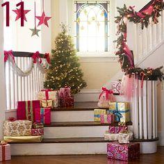 24 Christmas Staircase Ideas » Random Tuesdays