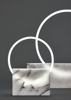 A Lighting Collection That Merges Marble with Neon Lights - Design Milk
