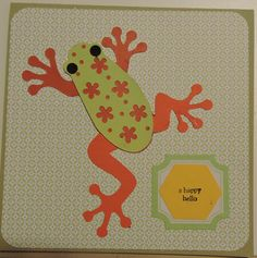 Birthday card: colorful frog