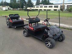Custom Golf Cart and Trailer