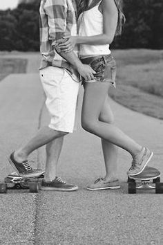 longboard love :D couples who skate together,  stay together!! :)