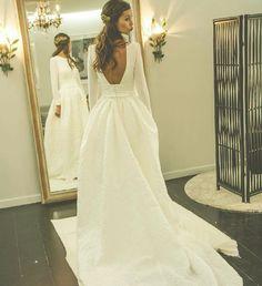 Long Sleeve Wedding Dress   Romantic