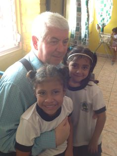 Dominick with children in the orphanage. They just want to be loved.