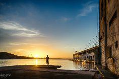 Sunrise in Havana Cuba at the Terminal Sierra Maestra