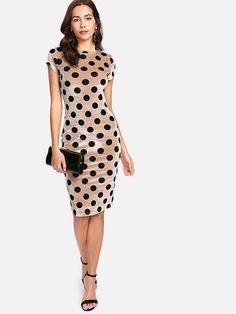 Shop Polka Dot Velvet Pencil Dress online. SheIn offers Polka Dot Velvet Pencil Dress & more to fit your fashionable needs.