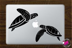 Sea Turtle Couple Swimming Vinyl Decal Stickers by ViciousVinyl