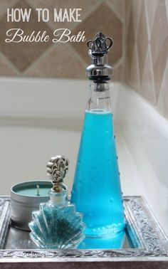 How to Make Bubble Bath with minimal ingredients and a step by step video tutorial.