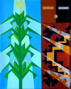 Sandra Cohoe Artwork Title: Corn Deities. Contemporary artist Contemporary Painter, Artist from Newcomb New Mexico United States. Free Artist Portfolio Website - absolutearts.com