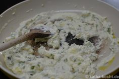 Gnocchi mit Mangold und Ricotta - Katha-kocht! Gnocchi, Ricotta, Oatmeal, Grains, Breakfast, Food, Kochen, Food Food, Rezepte