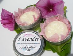 Solid Lotion Bar  LAVENDER  Shea and Cocoa by SummerScentSations, $5.50