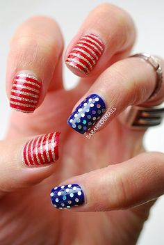 4th. of July Nail Art
