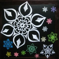 Just like in nature, no two paper snowflakes are exactly alike. I cut each snowflake by hand, making each one unique. Paper Snowflakes, Snowflake Designs, Fun Crafts, Agate, Crystals, Christmas, Stars, Fun Diy Crafts, Xmas
