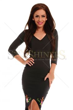 StarShinerS Brodata Lagoon Black Dress