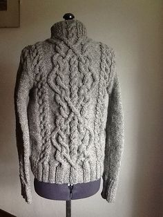 Ravelry: Project Gallery for Cable Sweater pattern by Bernat Design Studio Aran Knitting Patterns, Cable Knitting, Knitting Yarn, Knit Patterns, Hand Knitting, Crochet Patron, Knit Crochet, Cable Sweater, Aran Sweaters