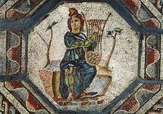 Orpheus Charming the Animals (mosaic), Roman, (2nd century AD) / Musee Archeologique, Saint-Roman-en-Gal, France / Giraudon / The Bridgeman Art Library
