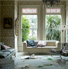 This TOH editor would die and go to heaven for the stained-glass transoms in this London Victorian home by Marianne Cotterill.