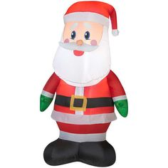 4ft Airblown Santa Claus Inflatable Outdoor Christmas Decor Blowup Yard Lawn LED #Gemmy
