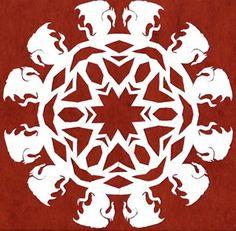 Amazing fannish paper snowflakes - Merlin, Sherlock Holmes, LOTR, Supernatural, Star Trek, and more