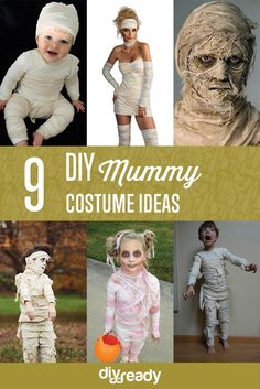 9 DIY Mummy Costume Ideas | Scary and Cute Looks For Kids And Adults by DIY Ready at http://diyready.com/9-diy-mummy-costume-ideas/