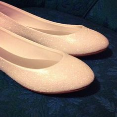 bridal white ballet flats by iramzz on Etsy