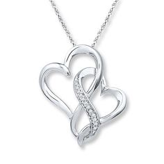 Jared - Infinity Heart Necklace 1/20 ct tw Diamonds Sterling Silver