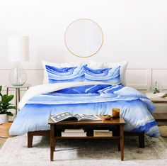 Blue Lace Agate Duvet Cover - Laura Trevey