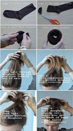 DIY Hair Up-do: How to Fake a Bun.