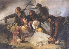 The death of Markos Bossaris during the Battle of Karpenisi, Greek War of Independence Greek Independence, Greek Paintings, Greek Warrior, Greek History, Simple Minds, Virtual Art, Renaissance Paintings, Indian Photography, In Ancient Times